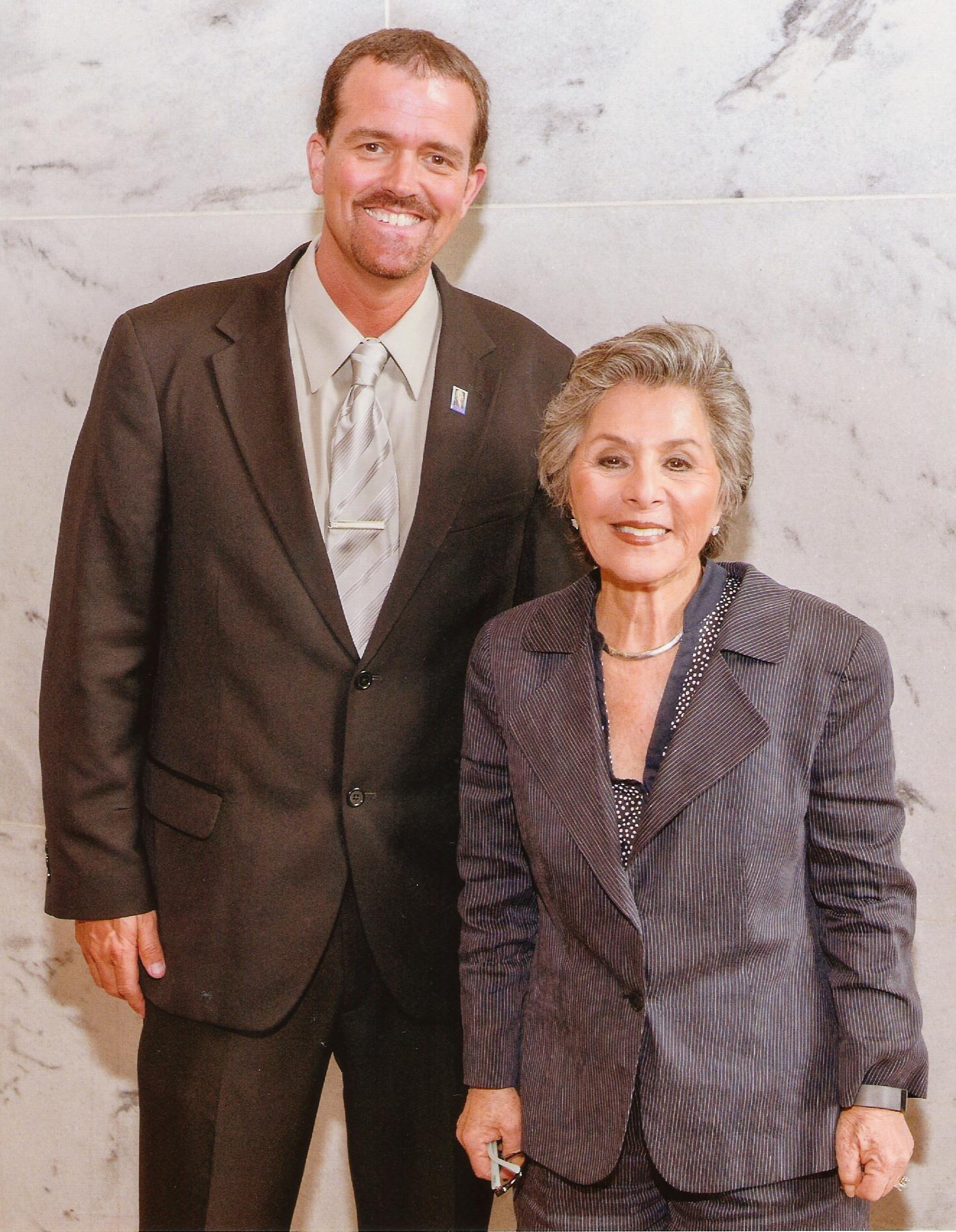 Sen. Boxer and Me - Summer 2015